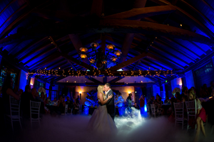 Bride and groom first dance dancing on cloud