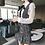 Thumbnail: Tweed Dress With Lace Shirt