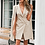 Thumbnail: Beige Blazer Dress With Open Sleeves