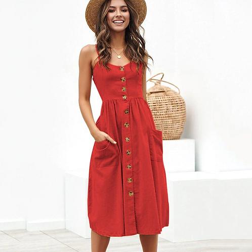 Button-Up Summer Dress