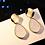 Thumbnail: Vintage Geometric Dangle Earrings