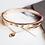Thumbnail: Golden Double Layer Drop Bracelet