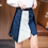 Thumbnail: Irregular Double Tone Denim Skirt
