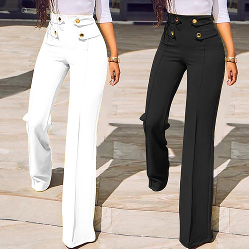 Wide Leg Office Pants