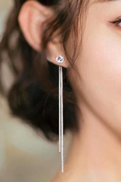 Sleek Drop Earrings