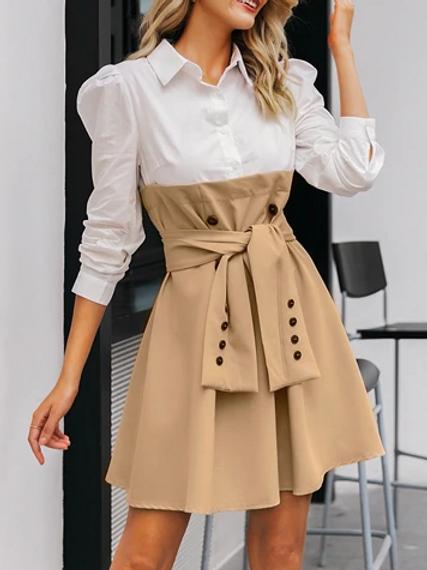 Double Tone Winter Dress