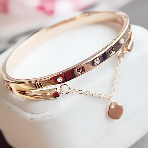 Golden Double Layer Drop Bracelet