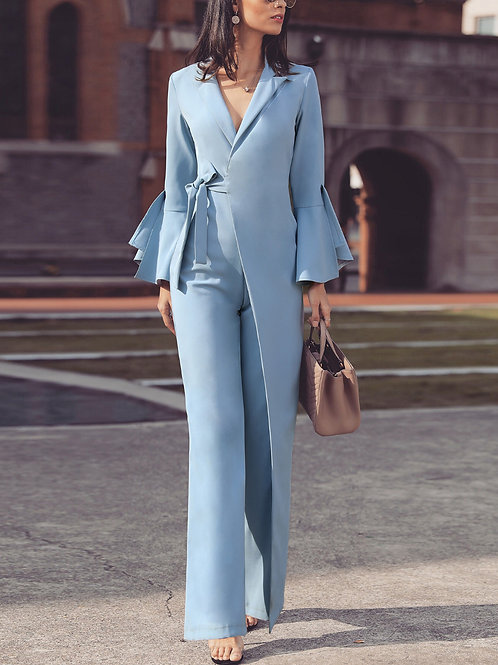 Blue Asymmetrical Co-Ord Suit