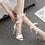 Thumbnail: Ruffle White Open Toe Heels