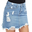 Thumbnail: Ripped Denim Mini Skirt