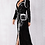 Thumbnail: Black & Silver Luxurious Long Coat