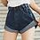 Thumbnail: Denim Elastic Waist Shorts