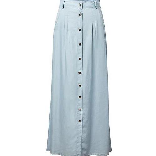 Soft Denim Long Skirt