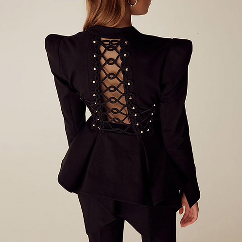 Backless Cut-Out Jacket