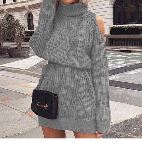 Warm Shoulder Cut Dress