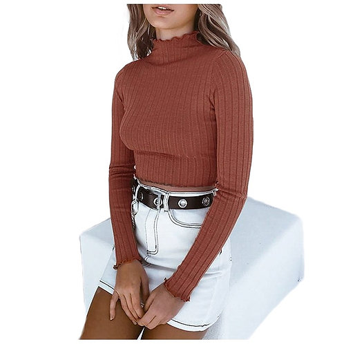 Crop Full Sleeves Warm Top