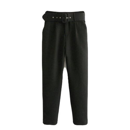 High Waist Semi-Formal Pants