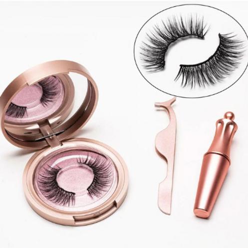 Magnetic Natural Eyelashes & Eyeliner Set