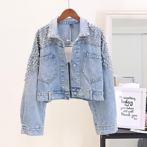 Denim Jacket With Rivets