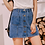 Thumbnail: Mini Denim Skirt With Front Buttons