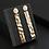 Thumbnail: Golden Geometric Hanging Earrings