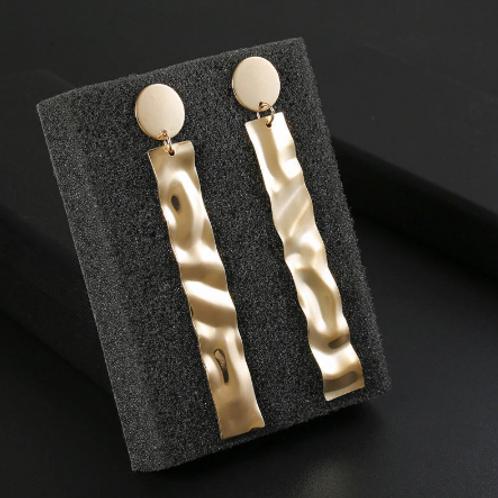 Golden Geometric Hanging Earrings