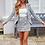 Thumbnail: Tweed Plaid Skirt & Blazer