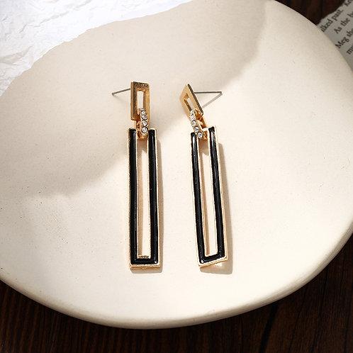 Geometric Rectangle Drop Earrings