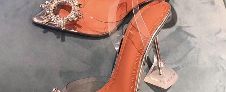 Embellished Clear Heels