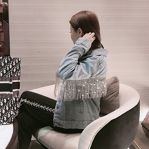 Diamond Tassel Denim Jacket