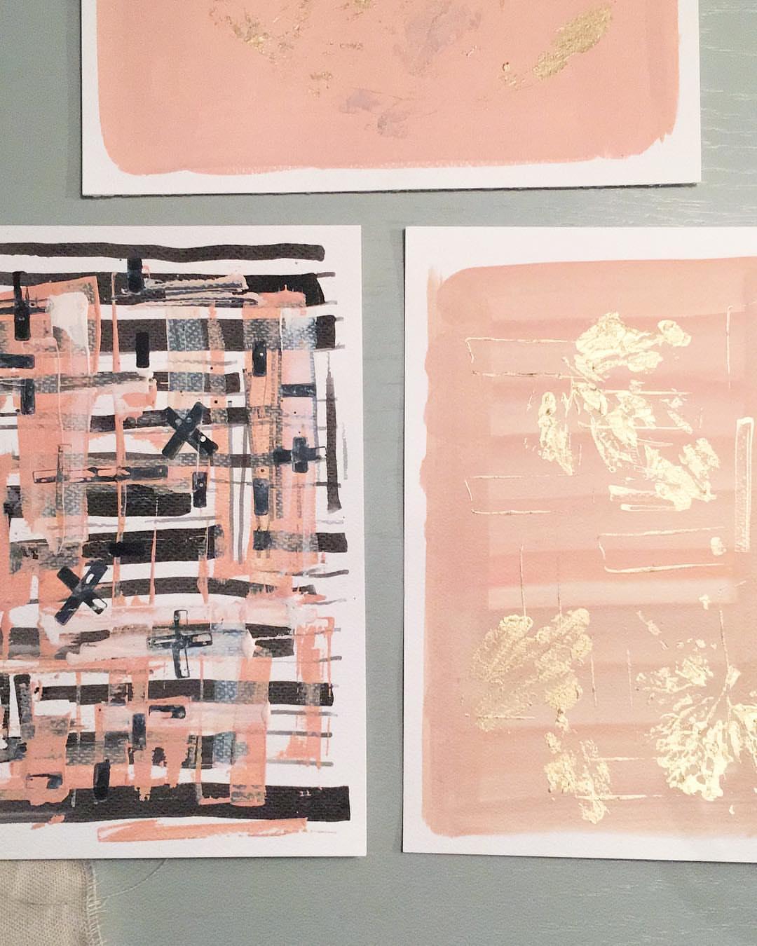 kleine abstracte werken