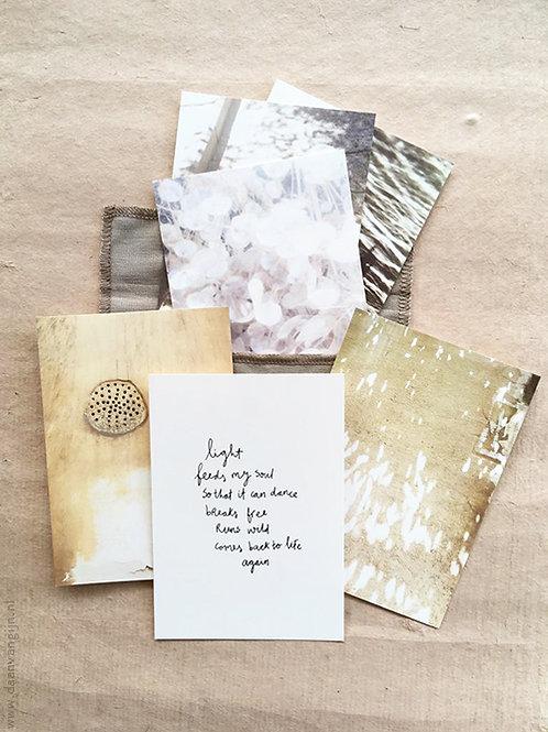 Art Card Set 'LIGHT' in linen