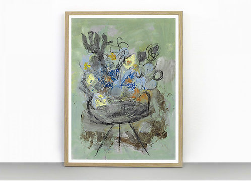 The Flower Table - Art Print