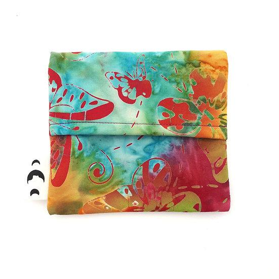 Pad Wrapper - Bright Butterfly Batik