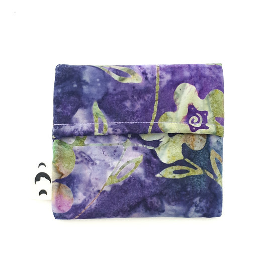 Pad Wrapper - Purple Flower Batik