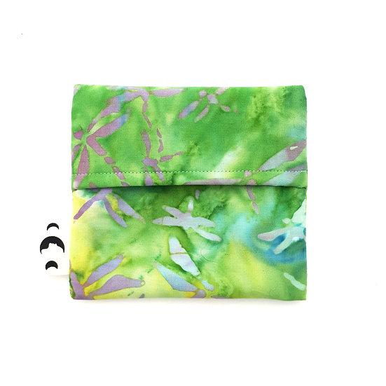 Pad Wrapper - Green Dragonfly Batik