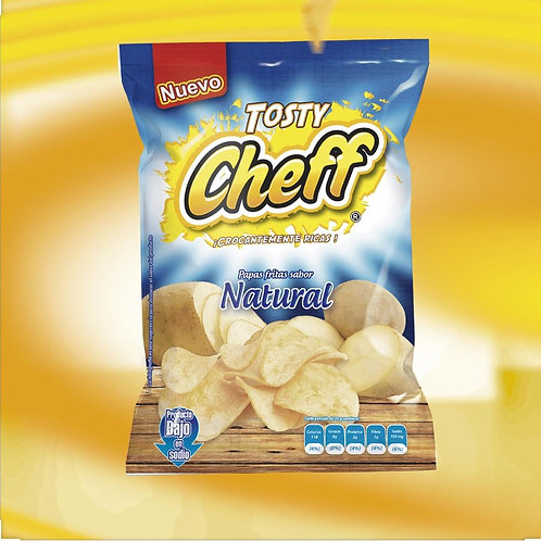 Docena Papas Tosty Cheff NATURAL