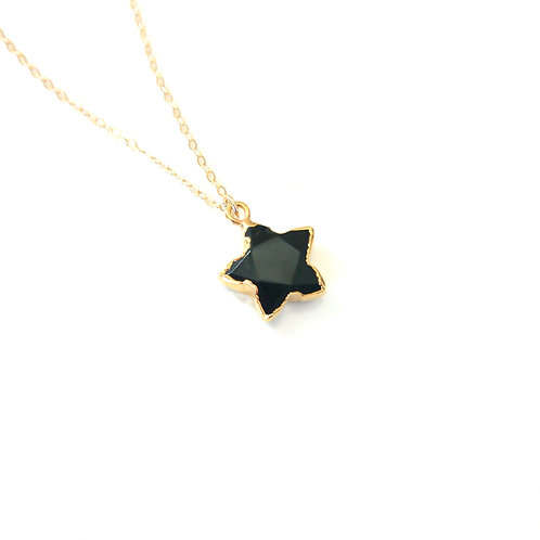 Star Onyx Gold Filled Necklace
