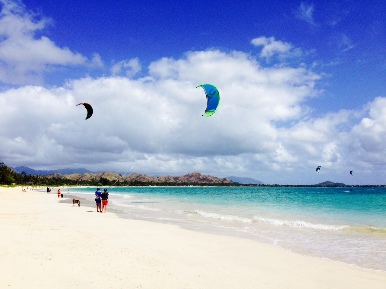 Windsurfers, Kailua Beach
