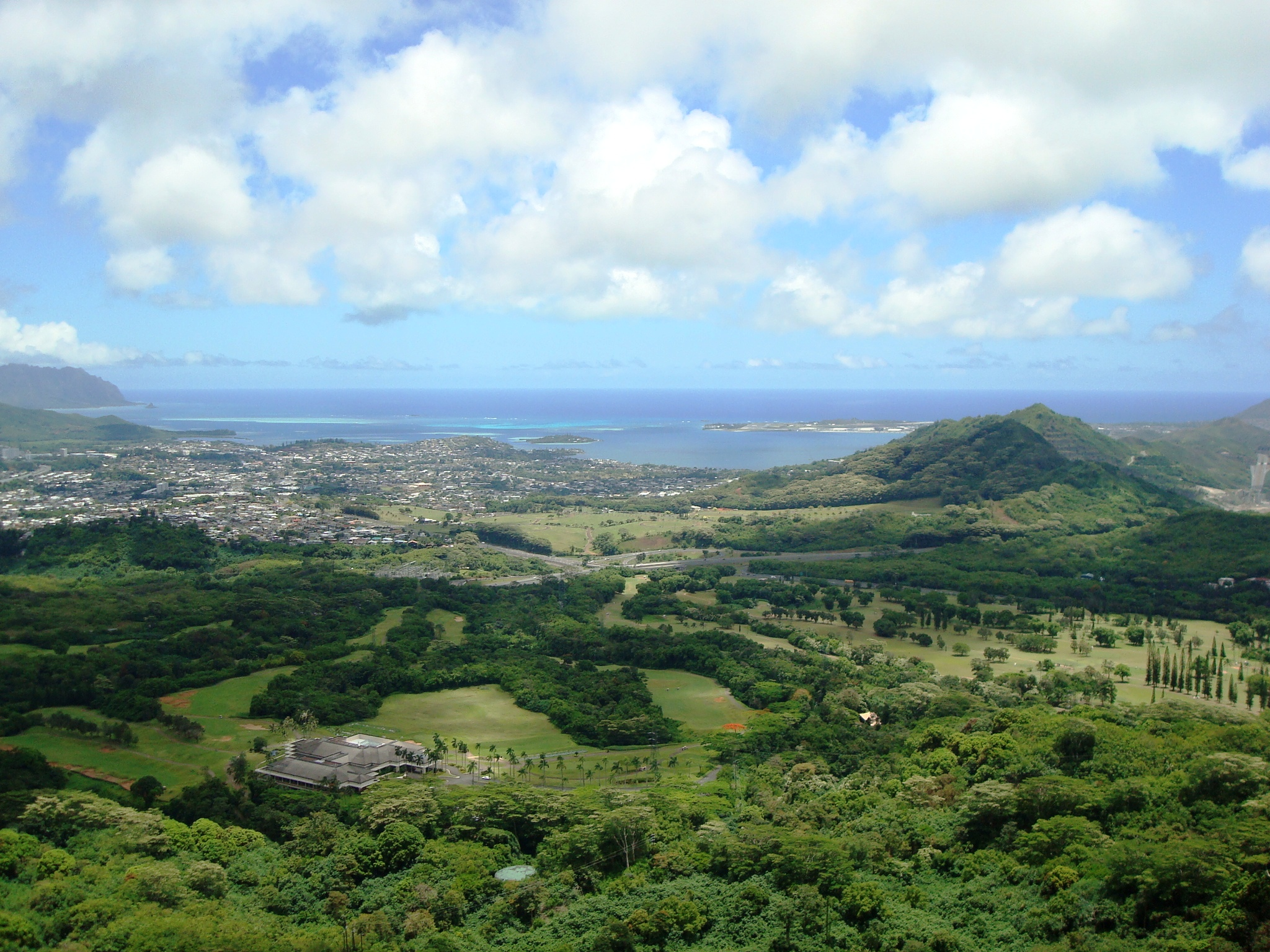 Kaneohe (from Pali Lookout)