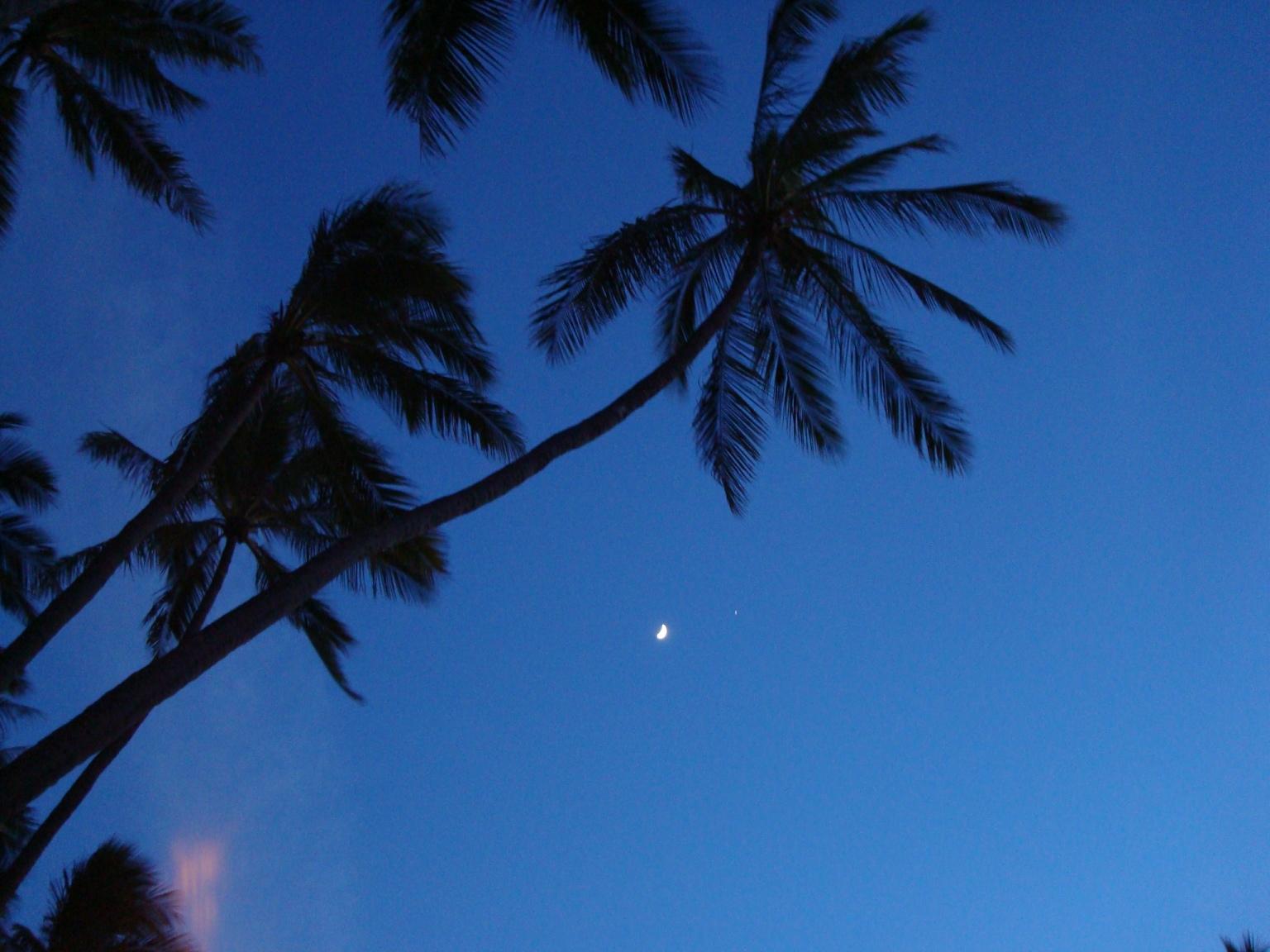 Moon over Waikiki