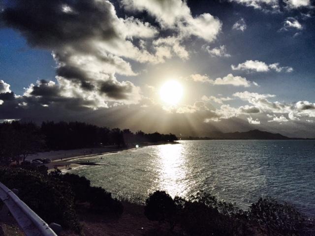 Sunset over Kailua Beach