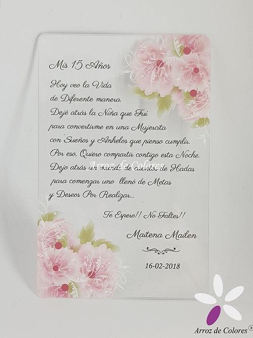 Flores rosadas (Cod AC023)