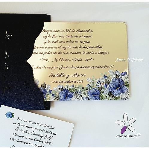 Flores azules (Cod AE024)