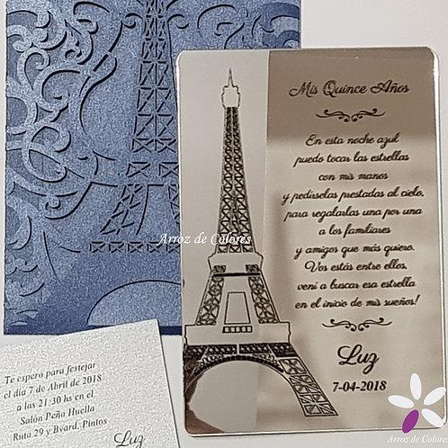 Torre Eiffel Silueta (AE027)