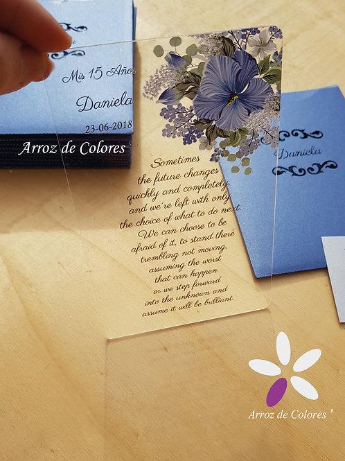 Flor azul Daniela (Cod AC018)