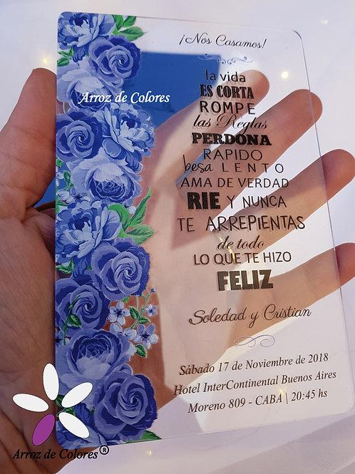 Rosas azules (Cod AC020)