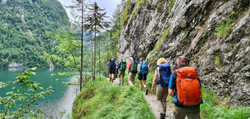Alpentraversale Walk along The Konigsee