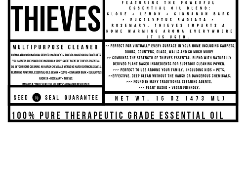 Thieves Cleaner Label (DIGITAL)