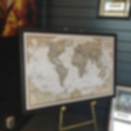 Beautifully framed World map, matte uv f